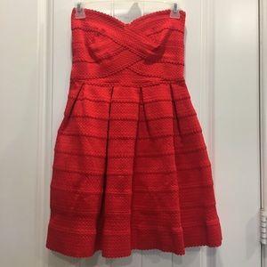 Sans Souci strapless red dress